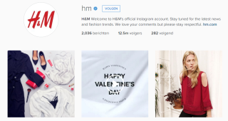 H&M op Instagram
